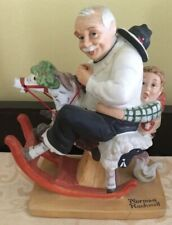 1980 Norman Rockwell Gramps At The Reins Figurine Danbury Mint Japan