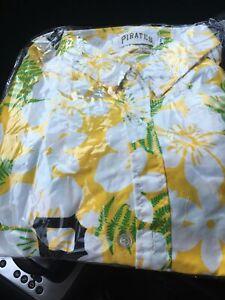 Pittsburgh Pirates Adult XL Hawaiian SGA Shirt 7/31/21
