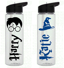 1 x personalised HARRY POTTER DOBBY name stickers kids water drinks bottle