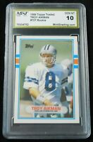 1989 Topps Traded RC #70 T - Troy Aikman  RC HOF - MINT Grading 10