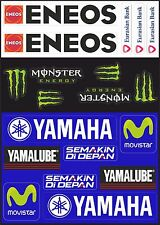 Yamaha Movistar Decal Stickers Motorcycle Graphic Set Logo Vinyl Adhesive 19 Pcs