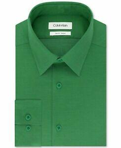 CALVIN KLEIN Mens Dress Shirt Slim Fit Palm Green 15-15.5 32-33 $79 - NWT