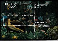 Sierra Leone 2013 MNH Hist of Art Symbolism 4v M/S Dream Henri Rousseau Stamps