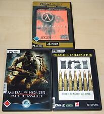 3 pc jeux collection Half Life-Medal of Honor pacific Assault-project tamm