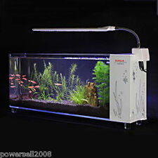 8L Mini Glass Open-ended Small Ecological Gift Aquarium Fish Tank White &$
