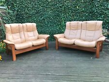 Ekornes Stressless Windsor Buckingham Leather Recliner Sofas Suite Set