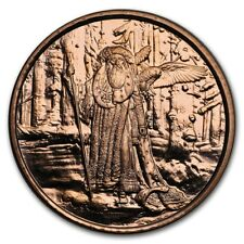 Celtic Lore Series - Merlin The Magician 1 oz .999 Copper BU Round USA Made Coin