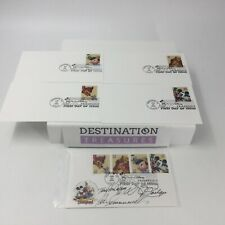 Disney Art of Friendship Stamps on Envelopes Postmarked First Day Issue 6-23-04