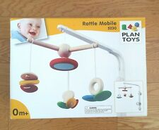 PLAN TOYS RATTLE BABY CRIB MOBILE 5230 NEW