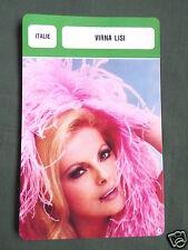 VIRNA LISI - MOVIE STAR - FILM TRADE CARD - FRENCH