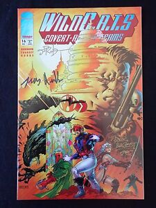 Wildcats 16 Signed James Robinson Troy Hubbs Travis Charest Image