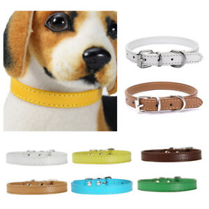 Dog Faux Leather Collar Puppy Leash Neck Strap Walking Traction Pet Supply Effic