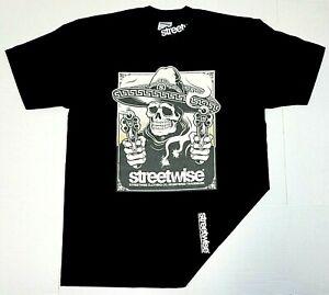 STREETWISE GUNSMOKE T-shirt Urban Streetwear Adult Men's Tee Black New
