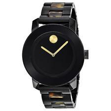 Movado Bold Mid-size Black Dial Mirror Black IP Steel Watch 3600110
