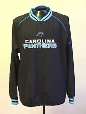Carolina Panthers REEBOK NFL Jacket Pullover Black Men Size XL