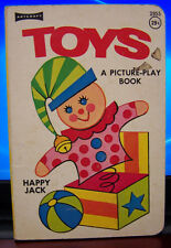 Toys A Picture-Play Book by Artcraft, Vintage Board Book-The Netherlands
