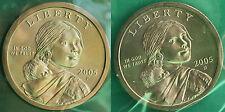 2005 P & D Sacagawea Dollar BU 2 Satin Coins Cellos US Mint Set Uncirculated $1