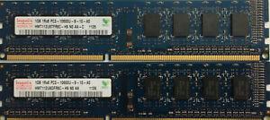 2GB 2 x 1GB DDR3 PC3-8500 1066 MHz Desktop Memory DIMM Acer HP Dell Lenovo RAM