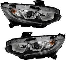 Headlights Headlight Assembly NEW Pair Set For 16-17 Honda Civic EX/EX-L/EX-T/LT