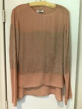 **REDUCED** Jean Paul Gaultier Blush Beaded Tunic Blouse Top Size 48 NWT