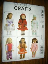 "18"" DOLL Leotard Jumper NEW McCalls 6257 Pattern Hat Mittens Fits American Girl"