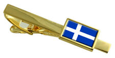 Shetland County England Flag Gold Tie Clip Engraved Personalised