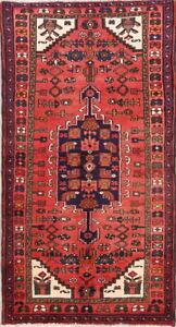 Vintage Traditional Geometric Oriental Area Rug Wool Handmade Tribal Carpet 3x6