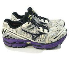 Women's Mizuno Wave Inspire 8 Running Shoes Sneakers Size 8.5 W White Purple