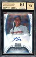 George Springer Rookie Card 2011 Bowman Sterling Prospect Autographs #GS BGS 9.5
