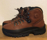 Men's Timberland Performance ACT Sz 7.5M Brown Black Leather Hiking Boots Trail