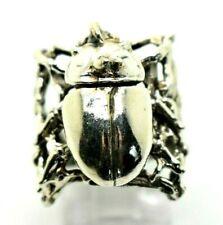 3D Beetle Bug Design Sterling Silver 925 Ring  11g Sz10 SAS291