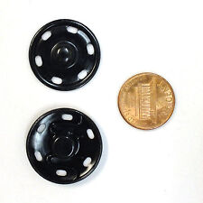 New Sew-On Snaps Fasteners Size:25mm 144 sets package, Color: Black