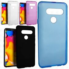 For LG V40 ThinQ TPU CANDY Hard Gel Flexi Skin Case Phone Cover Accessory