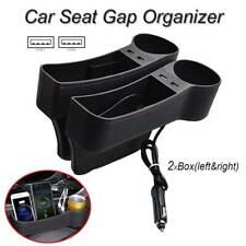 Auto Storage Box Usb Charging Car Seat Gap Organizer Cup Holder Multifunction
