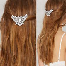 Women's Hairpin Hair Comb Clips Crystal Flower Bridal Hair Pins Accessories