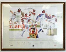 Cricket World Cup Captains Gary Keane 214/500 -25x19 Framed Signed by 9 - £199