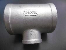 Edelstahl T-Stück Gewindefitting 3xIG (1 1/2X3/4) AISI 316