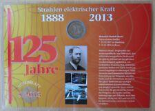 """Numisblatt 5/2013, 10 Euro Gedenkmünze, """"125 Jahre Strahlen elektischer Kraft"""""""