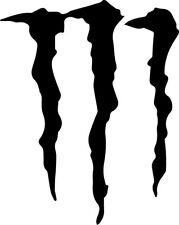 Monster Energy Drink Logo Decal Car Sticker, Vinyl, Different Colors