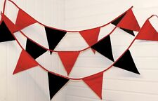 Red and Black bunting 10 mtr ** Made in England **