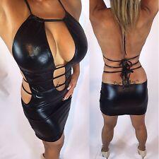 Connie's sexy Black Micro mini Dress Black halter Mini Dress S