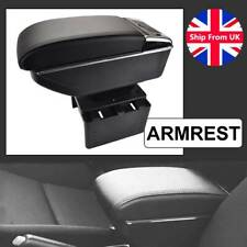 Dual Layer Armrest Car Central Storage Box Black Leather Centre 2016 2018