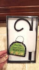 """New listing Tumbleweed Pottery Planter Plaque """"For The Last Time.Bloom!"""" Funny Green Thumb"""