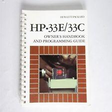 Vtg. Hewlett Packard Calculator Hp-33E Hp-33C Owners Handbook Programming Guide