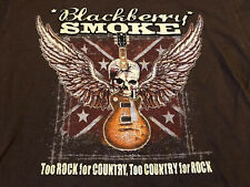 Rare Vintage BLACKBERRY SMOKE Concert Tour Country Rock Band SHIRT Skull Flag