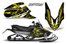 Yamaha APEX XTX Decal Wrap Graphic Kit Sled Snowmobile 2006-2011 NIGHTWOLF YLLW