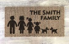 Personalised Gifts For Him Her Daddy Mummy Family Portrait Door Floor Mat Gifts