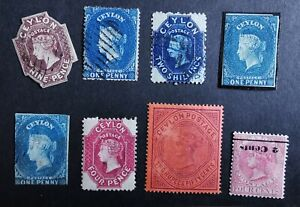 Ceylon Victoria Vintage Stamps