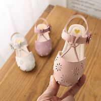 Toddler Infant Kids Girls Cute Pearl Hollow Flower Princess Sandals Casual Shoes