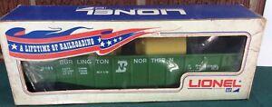 Lionel 9141 Burlington Northern Gondola w/ Load FACTORY ERROR 1 side lettered